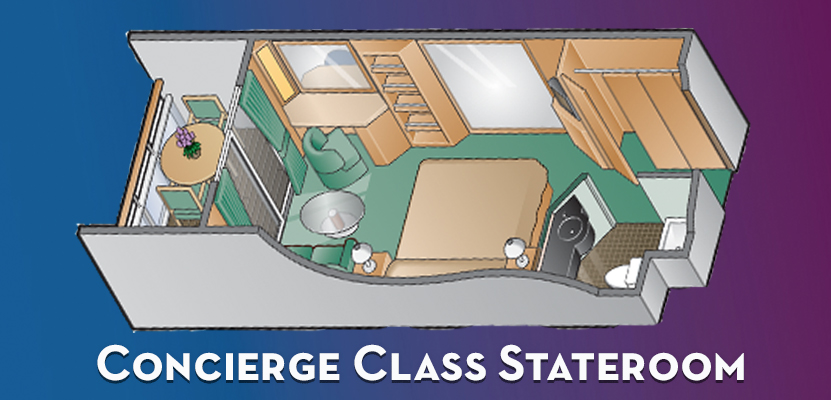 Concierge Class Staterooms with Veranda