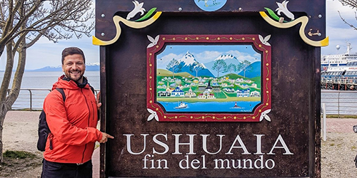 ARRIVAL IN USHUAIA, ARGENTINA