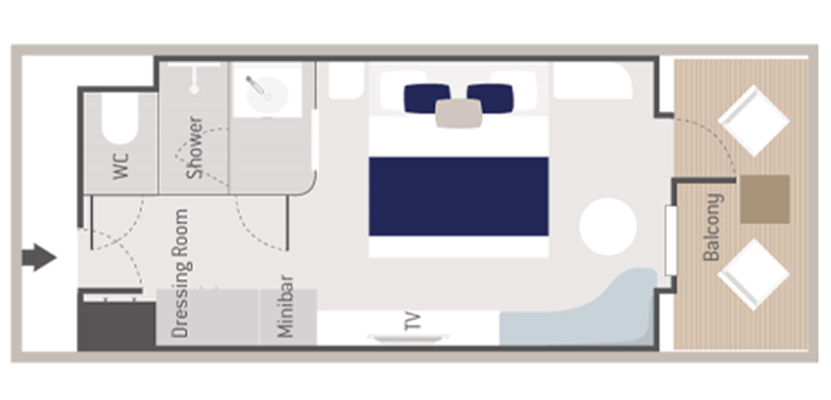 Deluxe Veranda Stateroom